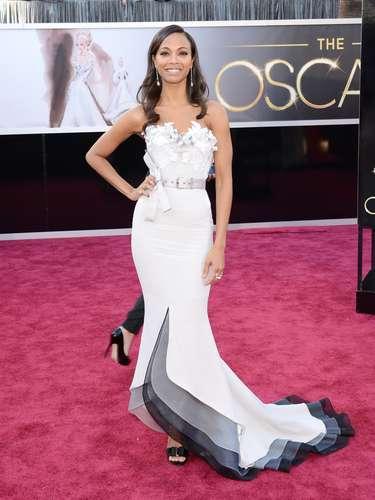 Zoe Saldana, se veían guapísima
