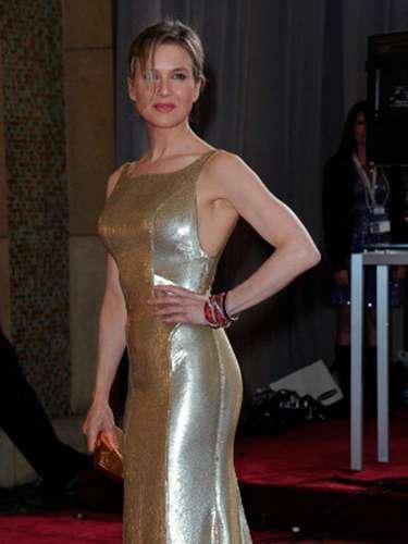 La actriz Renee Zellweger también apostó al brillo en 2013.