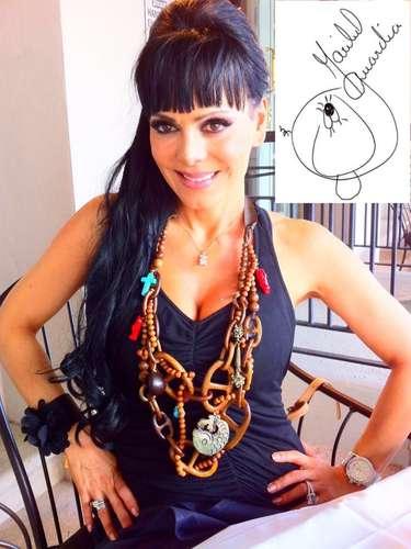 Maribel Guardia esparció por Facebook una foto suya autografiada para innformar:'Gracias a Dios, debido al éxito de \