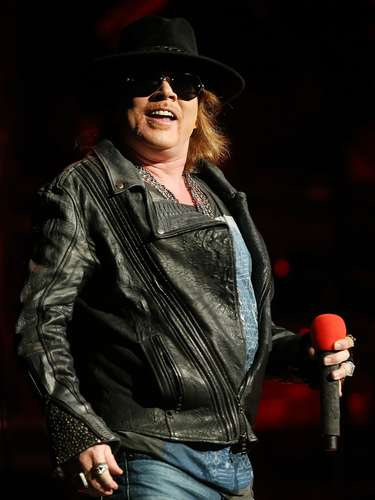 That's one giant gut! But rocker Axl Rose didn't care as he pranced around stage at the Allphones Arena on March 12, 2013 in Sydney, Australia.
