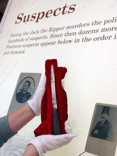 El presunto cuchillo utilizado por Jack el Destripador fue mostrado en la exposición 'Jack el Destripador y el East End' en 2008 en el Museo de los Docklands de Londres, Reino Unido.