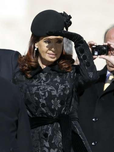 Cristina Fernández de Kirchner ha lucido una boina en vez de velo.