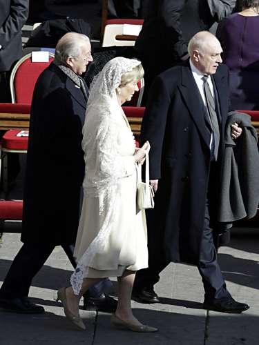 El Rey Alberto y la Reina Fabiola de los belgas.