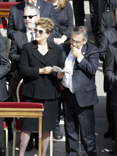 La presidenta de Brasil,Dilma Vana Rousseff, también ha acudido a la Misa de inicio del Pontificado este martes en Roma.