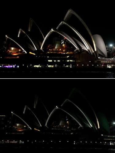 La extinción de las luces en los monumentos más representativos de Sídney fueimitada por países de todo el mundo, con las Torres Petronas en Malasia, el estadio Nido de Pájaro en Pekín, y el Burj Khalifa en Dubai.