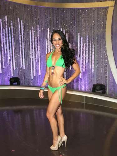 Leticia Laurenti, una de las afortunadas participantes, del grupo de Julián Gil, que logró llegar a hacer parte de las 18 finlistas del certamen.