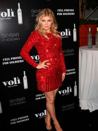 Fergie asiste el beneficio Lights Voli Vodka en SkyBar en el Mondrian de Los Angeles, el 6 de diciembre de 2012 en West Hollywood