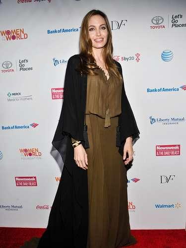 Esta semana se le vio a Jolie llegar a un evento en Nueva York