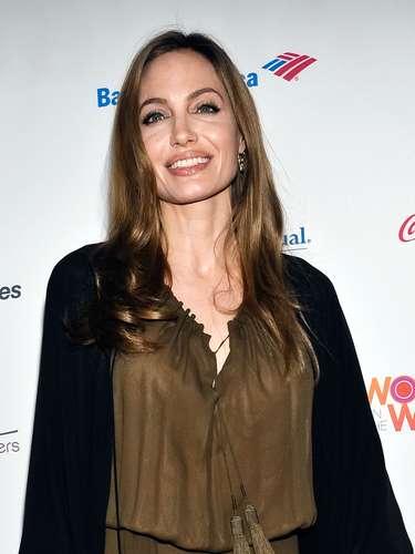Anteriormente Angelina lució muy flaquita
