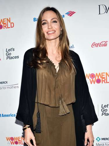 Angelina Jolie arrives at the 2013 Women in the World Summit last night (April 4). Jolie honored Malala Yousafzai, a 15-year-old Pakistani girl who was assassinated by Taliban gunmen for advocating education for women. Angelina, a U.N. goodwill ambassador since 2001, donated $200,000 to build a school in Malala's name.
