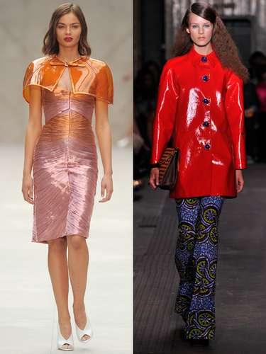 Life in plastic, it's fantastic. Como una auténtica Barbie Girl, llegan chaquetas,faldas y complementos al más puro estilo plástico. Plexiglás y transparencias que parecen sacados de un mundo de juguete (de izquierda a derecha: Burberry Prorsum y Moschino).