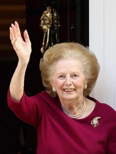 En 2012 Thatcher aún conservaba a sus 84 años su peinado, aunque ahora cubierto de canas.