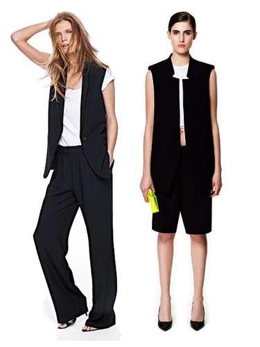 Las firmas low-cost también se han hecho eco de la chaqueta-chaleco. En Mango, izquierda. En Zara, a la derecha. Para looks masculinos informales.