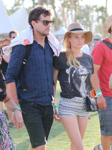 Diane, junto a su novio, Joshua Jackson.
