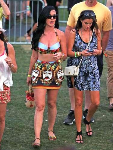 Katy Perry, con un look de Dolce&Gabbana.