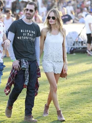 Kate Bosworth, con otro de los looks más alabados del fin de semana de música y artes en California.