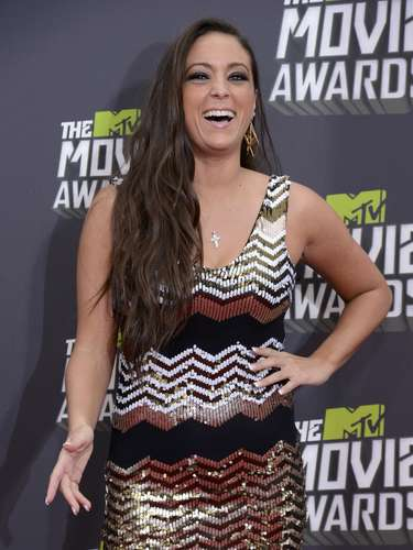 Si se trata de premios y fiesta, Sammi Giancola de 'Jersey Shore' no podía faltar a los Movie Awards