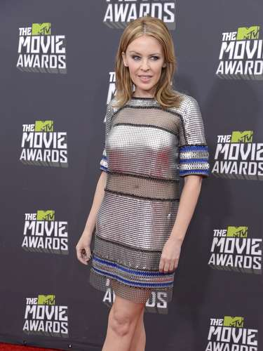 Kylie Minogue también asistió a los Movie Awards. ¡Una australiana más en la casa!