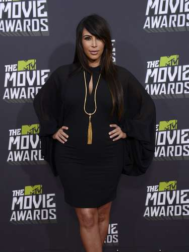 La más famosa de las Kardashian asistió a los MTV Movie Awards 2013