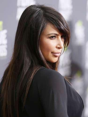 Kim Kardashian luce más gordita y rellenita con su embarazo