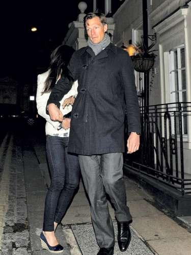 La pareja, escurridiza con la prensa, acudió a una fiesta en un exclusivo club de Londres.
