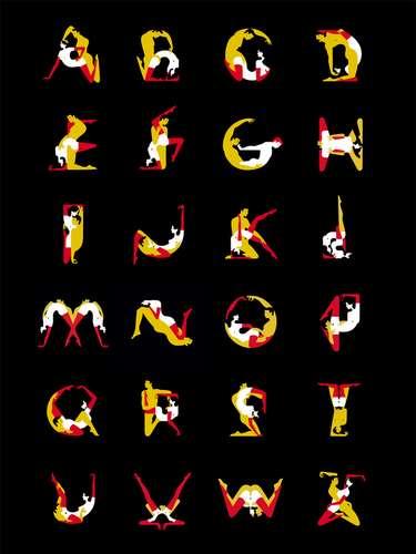Experimenta con el Kamasutra formando las letras del abecedario, por cortesía de Malika Favre, una artista que ha creado una tipografía especial donde incluye posiciones para gays y lesbianas. ¿Cuál es tu letra favorita?