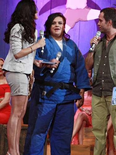 La judoka Vanessa Zambotti representa al deporte nacional en la producción televisiva de TV Azteca.