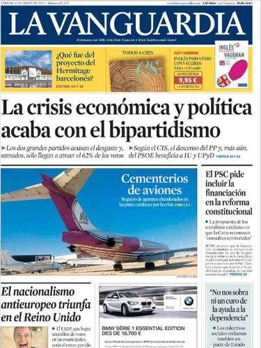 'La Vanguardia' también abre con los resultados del CIS y titula \