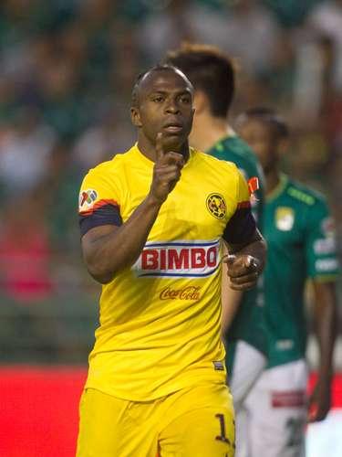 En la J.14, también fue artífice del empate americanista en el Nou Camp, de León (1-1).