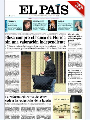 'El País' titula con que \
