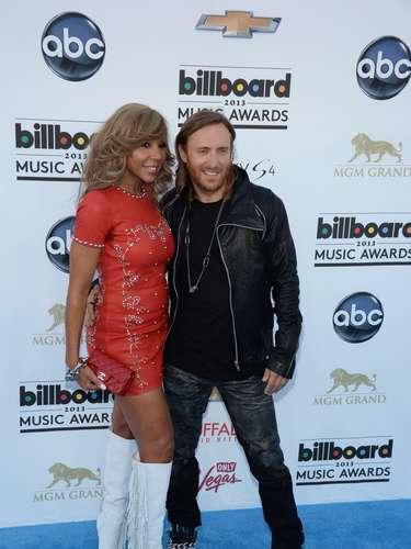 David Guetta es uno de los DJ nominados. El francés asistió a los Billboard Music Awards 2013 en compañía de su esposa y representanteCathy