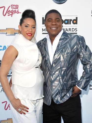 El anfitrión de la ceremonia Tracy Morgan asistió junto a su novia embarazadaMegan Wollover
