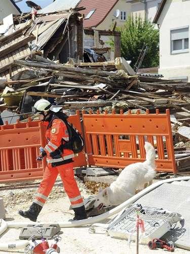 Una explosión se produjo en un edificio de Heidenheim, Alemania, el 6 de junio del 2013.
