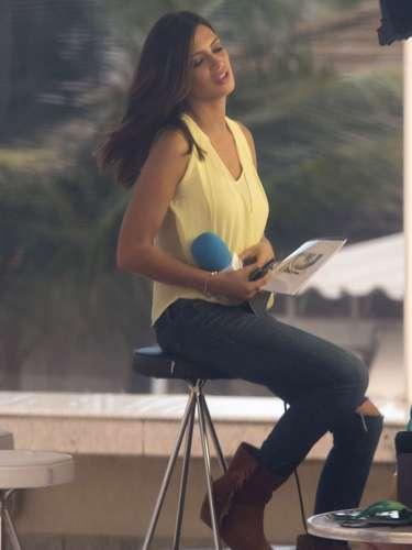 Últimas imágenes de Sara Carbonero antes de conocer la noticia de su embarazo. Aunque en ese momento solo algunos íntimos lo sabían, la novia de Iker Casillas ya estaba embarazada cuando estaba en Brasil trabajando en la Copa Confederaciones.