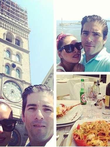 6 de julio - Galilea Montijo se fue de 'segunda luna de miel' a la bella Italia, con su esposo, el expolítico Fernando Reina. ¿Qué ciudad visitarían?