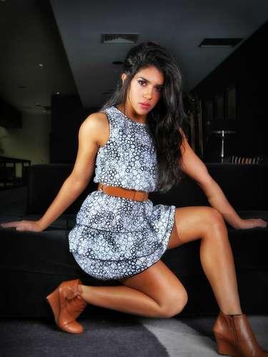 Vania Bludau, bailarina de El Gran Show en sesión de fotos para el lente de Terra Perú.