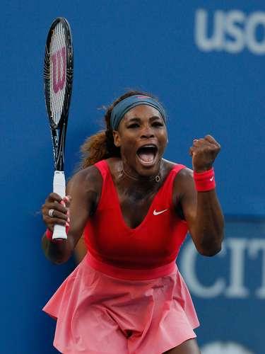 Euforia...La número uno del mundo Serena Williams, tras lograr su pase a la final del torneo.