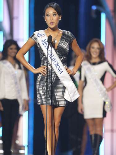Miss America 2014 contestant, Miss California Crystal Lee, competes in a preliminary round during the Miss America Pageant in Atlantic City, New Jersey, September 10, 2013. Miss America will be crowned during the final ceremony on Sunday, September 15.  REUTERS/Carlo Allegri (UNITED STATES - Tags: ENTERTAINMENT)
