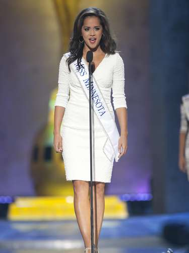 Miss America 2014 contestant, Miss Minnesota Rebecca Yeh, competes in a preliminary round during the Miss America Pageant in Atlantic City, New Jersey, September 10, 2013. Miss America will be crowned during the final ceremony on Sunday, September 15.    REUTERS/Carlo Allegri  (UNITED STATES - Tags: ENTERTAINMENT)