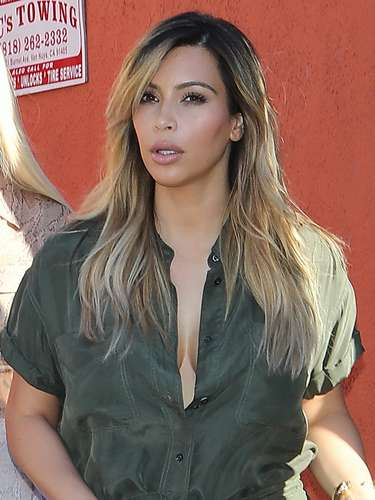 Kim tardó un poco en 'ver la luz' puesto quería mostrarse con varias libras menos antes de ser juzgada por la prensa