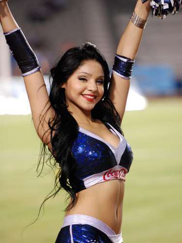 Las Rayaditas are the cheerleaders for Monterrey and every 15 days they cheer from Tecnologico Stadium.