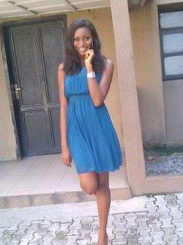 Miss Nigeria - Stephanie Okwu. Tiene 19 años de edad, mide 1.80 metros de estatura (5 ft 11 in) y procede del estado de Imo.