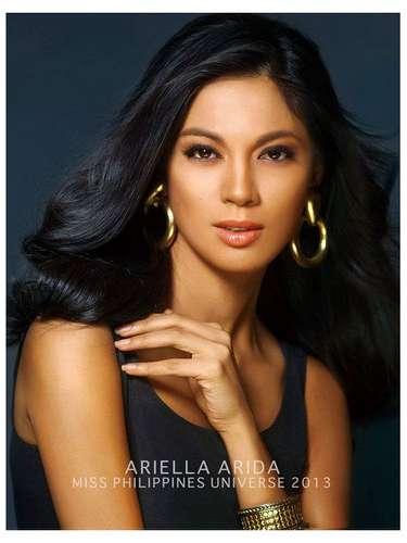 Miss Filipinas - Ariella Arida. Tiene 24 años de edad, mide 5 ft 8 in (1.73 metros) de estatura y procede de Alaminos