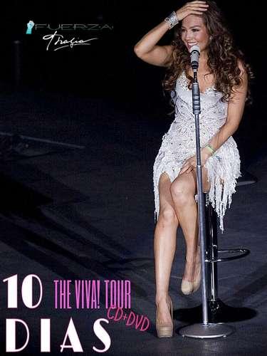 4 de Noviembre -Thalía utilizó su cuenta de Twitter para anunciar con esta imagen que faltan 10 días para la llegada de su DVD\