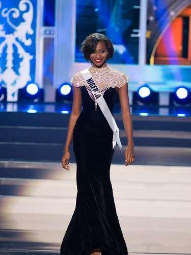 Miss Nigeria - Stephanie Okwu. Tiene 19 años de edad, mide 1.80 m (5 ft 11 in) y procede de Imo
