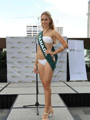 Miss Canadá - Sofiya Chorniy, tiene 20 años de edad, mide 1.75 metros de estura (5 ft 9 in)y reside en Montreal.