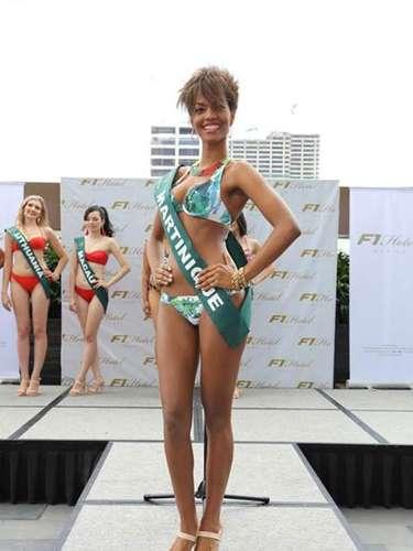 Miss Martinica - Rani Charles, tiene 20 años de edad, mide 1.77 metros de estura (5 ft 9 12 in)y reside en Fort-de-France.