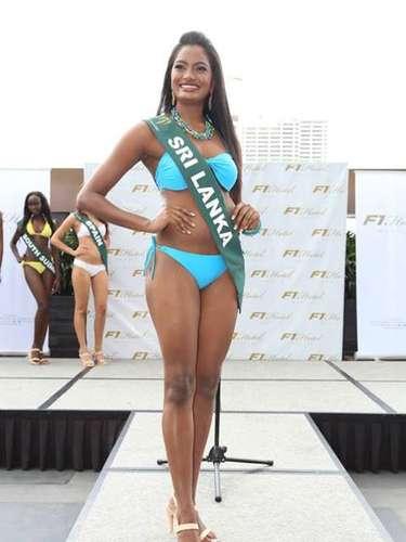 Miss Sri Lanka - Solange Kristina Gunawijeya, tiene 22 años de edad, mide 1.76 metros de estura (5 ft 9 1/2 in)y reside en Nugegoda.