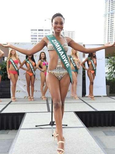 Miss Zimbabue - Samantha Dika. Tiene 25 años de edad y reside en Harare