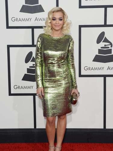 Rita Ora admitió que no se sentía muy cómoda con su vestido al principio pero que después resultó haber sido el indicado para los Grammy